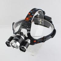 Boruit RJ-5000 3xCREE XM-L L2 5000 Lumens LED Headlight Head Light Waterproof Lamp With AC charger(2x18650 battery)
