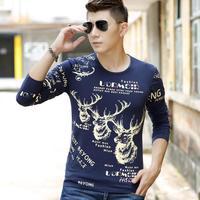 2015 t shirt cotton t shirts men's body building men long sleeve t shirt men t-fall/winter fashion tshirt
