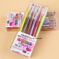 Candy color 12 diamond pen unisex 0.35 pen 12 multicolour pen AIHAO 4380