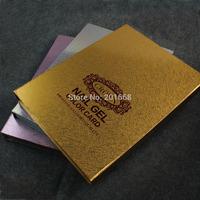 Golden Silver Purple White Crown 216 - 308 Colors PRO Nail Gel Polish Display Book Chart for Nail Art Salon Nail art Color Card