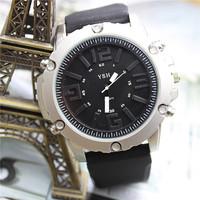 Best sale Men Sport Watches 2015 Military Quartz Round Dial Fashion Silicone strap Wristwatch Cool Clock 12-month Guarantee