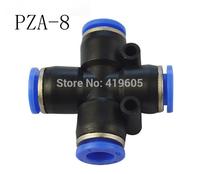 Free shipping 10pcs/lot Pneumatic fittings PZA-8 , 4 Way 8mm ID , pneumatic pipe fitting