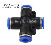 Free shipping 10pcs/lot Pneumatic fittings PZA-12 , 4 Way 12mm ID , pneumatic pipe fitting