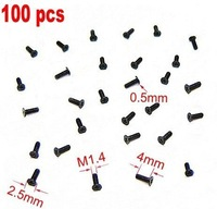 Free shipping  100 Cell Phone Screw M1.4x4 Micro Screws cellphone Repair Mini black