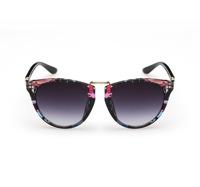 2015 New Arrival Cat Eye Sunglasses Women Vintage Style Flowers Printed Big Glasses Round Hot Sell Oculos De Sol Feminino