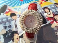 Luxury Gift Ladies Rhinestone Watch Women Quartz Watches Fashion Full Crystal watch with crocodile grain Leather strap Dropship