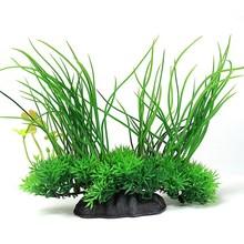 1 pz pianta artificiale erba di plastica (20x18 cm) verde sottobosco decorazioni acquario acquatico pet forniture all'ingrosso/al minuto  (China (Mainland))