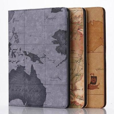 Retro World Map Case for Apple ipad air 2 Folio Stand Case Cover for ipad air2 for ipad6 Tablet PC Case(China (Mainland))