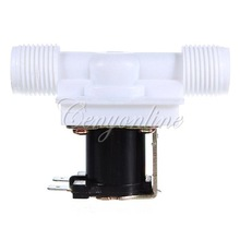 1/2 for DC 12V Electric Solenoid Valve N/C Water Inlet Flow Switch Normally Closed Free Shipping(China (Mainland))