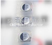 100pcs 100uF 25v SMD SMT Aluminum Electrolytic Capacitor 25V 6*7mm original and new