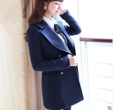 Женская одежда из шерсти C9082 Slim Casacos Femininos sobretudo CTS FASHION