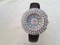 Analog Fashion Diamond Watch Digital Scale dial Quartz Watches Women Dress watch Casual Full Crystal Case Wristwatches Dropship