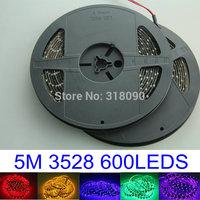 High Quality!! 4Pieces/lot Led Strip Light 5M 500CM 3528SMD 1210 LED Strips Lights 600 leds Waterproof Flexible 12V