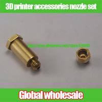 1kit 3D printer accessories nozzle set / melt copper tube + 0.4 mm nozzle kit for Mindray 3D printers 1.75mm filament