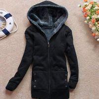 2015 Winter New Brand Fashion Women Hoodies Sweatshirts with Zip Ladies Cardigans Jacket Hooded Outerwear 100% Cotton Coat