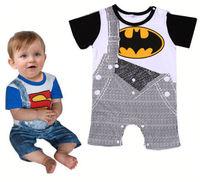 Summer Newborn Clothes Baby Suit Boys Superman Batman Romper Cotton 0-24 Months