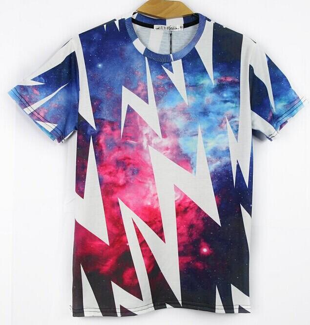 Galaxy White t Shirt White Lightning T-shirt