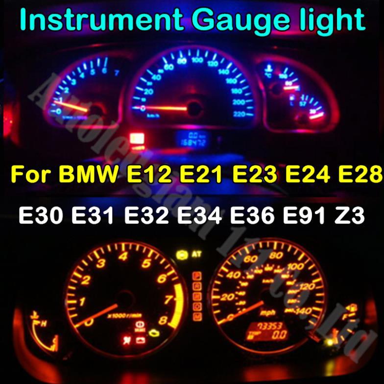 6 Colors T10 194 Led 12V Light Dashboard Instrument Gauge Light Bulb For BMW E34 E12 E21 E23 E24 E28 E30 E31 E32 E91 E36 Z3(China (Mainland))