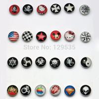 24 styles Skeleton Scorpions Tai Chi US Flag Tongue Pattern titanium steel Lover's Acrylic stud earrings