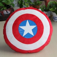5pcs/lot Free Shipping Captain America 2 Shield Pillow Plush Toy Soft Stuffed Toy Doll 35CM Christmas