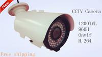 Free shipping 2015 CCTV camera 1/3 Sony CCD Effio-e CCD Full HD 1200TVL 960H OSD IR outdoor waterproof 2.8-12mm manual zoom lens