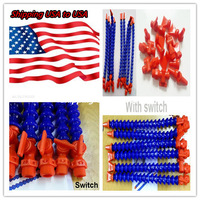 Free Shipping USA to USA New 12 pcs/set Flexible Plastic Water Oil Coolant Pipe Hose for Lathe CNC with Switch
