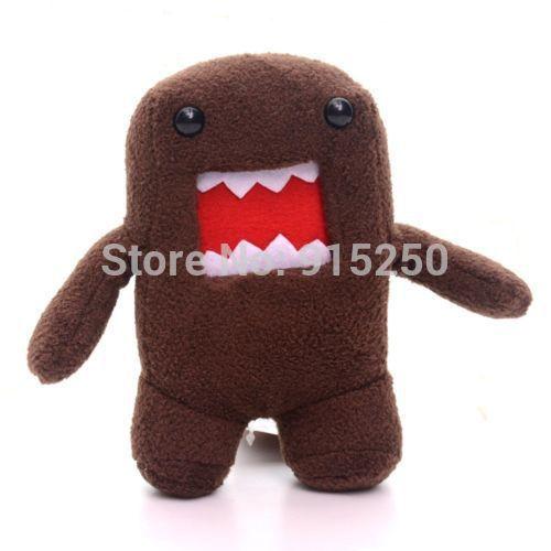 Hot Selling Amazing Cute Dark Brown Plush DOMO Kun Character Plush Toy Doll 7'' Brand New Free Shipping #LNF(China (Mainland))