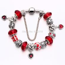 Silver Zinc alloy European beads fits bracelets free shipping B11