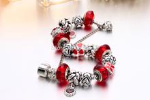 Silver Zinc alloy European beads fits Pandora bracelets free shipping B11