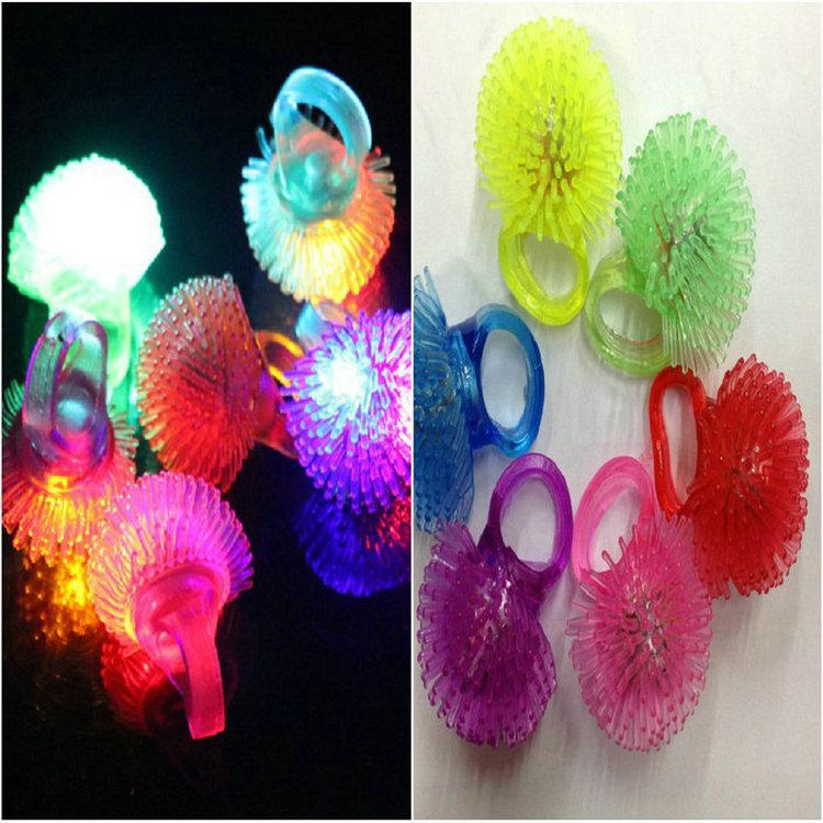 New arrival flashing balloon ring finger light led flash light emitting light-up toy finger ring lamp(China (Mainland))