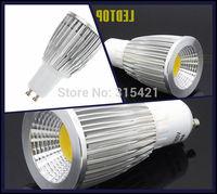 300Pcs/lot 9W COB LED Lights Spotlight GU10 Bulb Lamp AC85-265V Support Dimmable Warm White/Cool White L26