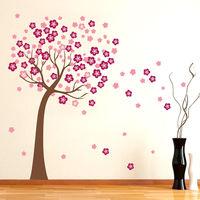 Pink Cherry Blossom Flower Tree Vinyl Mural Wall Sticker Decals Home Decor ku1