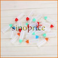 50x 15ml Empty Liquid Dropper Squeezable Dispense Bottle Eye Needle Cap Random Colors Free Shipping