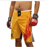 2015 Hot New brand PD high quality men shorts mma sports boxing fight men yellow short clothe boxing Trunks M-XXXL size