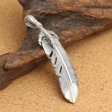 925 sterling silver masculino clássico retro Thai prata águia pena claws pingente homens jóias(China (Mainland))