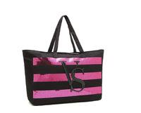 Hot Sale 2015 New Arrival  Victoria  love pink  Large Striped message bag  shoulder  Bag  Vs bags handbags women famous brands