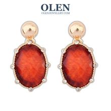 Fish Pearl Earrings Elegant Fashion Cute Rhinestone Cross Alloy Channel Earring High Quality Jewelry For Women 2015 New(China (Mainland))