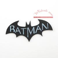 100pcs/lot 9*3.8cm BATMAN patch iron On Patches, embroidered appliques boy kids patch wholesale
