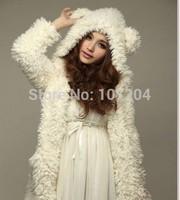 2015 Fashion Womens Hoodies Sexy Top Bear hat ear  Women's Sweatshirts Hoodies  Teddy Bear  beige color
