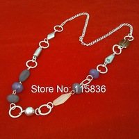 2015 fashion jewelry wholesale violetta crystal beads handmade vintage long chain necklace woman costume jewelry for party