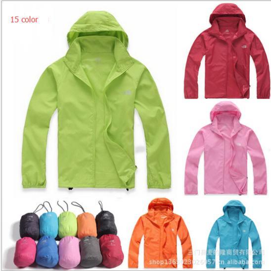 New 2015 Men/Women Waterproof Windproof Skin Jackets Outdoor Quick-Drying Rain Wind Ski Coat chaqueta Hiking Camping Windbreaker(China (Mainland))