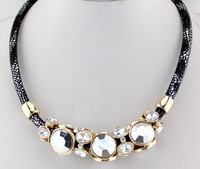 Fashionable Hollow Out Enamel Punk Statement Alloy Necklaces Gift Puscard