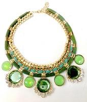 Free Shipping Antique Bohemia Jewelry Alloy Rhinestone Flower Pendant Necklace Retail & Wholesale