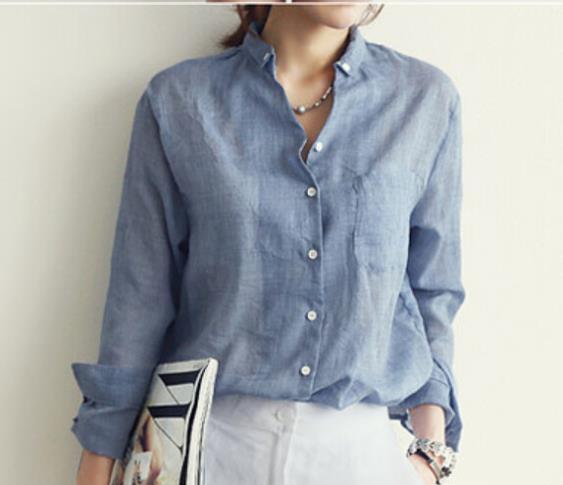 Womens Linen Blouses 29