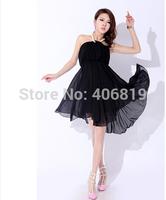 2014 Promotional new star models sexy nightclub loaded Pearl Halter dress waist chiffon dress free to send 86110