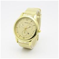 2015 New Relojes Women Watches gold Watches Mesh Full Steel Band Quartz Charm Bracelet Casual Wristwatch Analog Clock Unisex