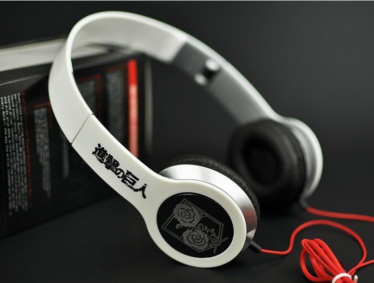 Free Shipping!Japanese Anime Attack on Titan Stationed Corps Cosplay Headband Earphone Headphone(China (Mainland))
