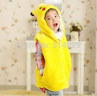 Pokemon Pikachu cartoon play show clothes jackets coat for children