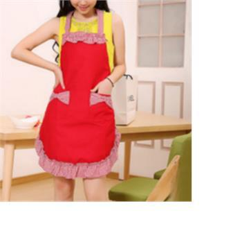 1 Piece Chic Cotton Cute Vintage Bowknot Pockets Apron Dress For Lady H10331(China (Mainland))