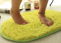 Oval Long Plush Carpet Soft Comfortable Cushion Kids Area Rug For Living Room Slip Resistant Yoga Door Mat 40*60cm